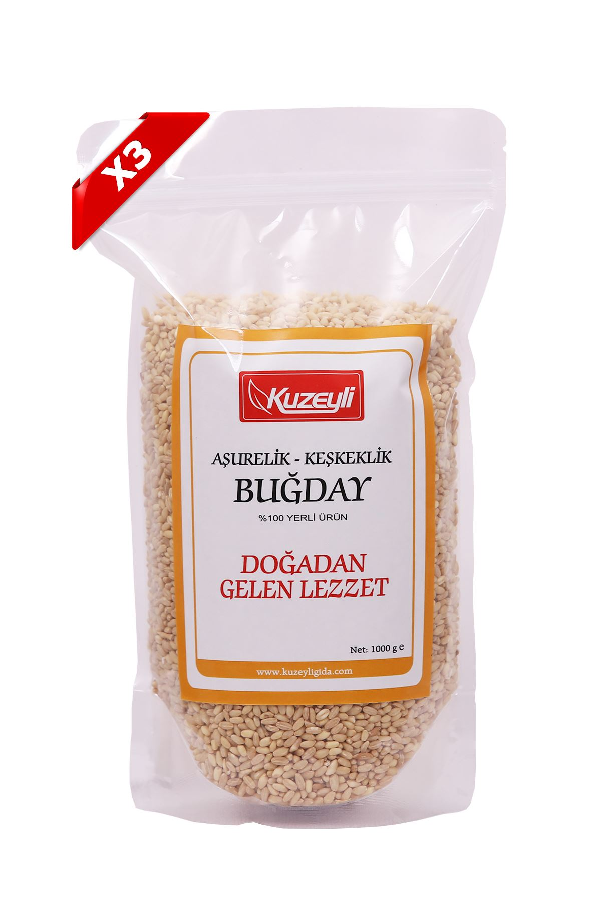 Buğday Aşurelik/Keşkeklik 3'Lü Set (3 Adet 1'Er Kg)